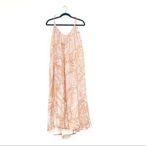 Lovers + Friends Peach Design Maxi Slip Dress
